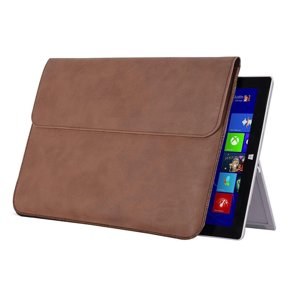 Mosiso PU Leather Skin Case For Microsoft Surface Pro 3  4  Magnetic Seal Sleeve Cover For Surface Pro 2017 2016