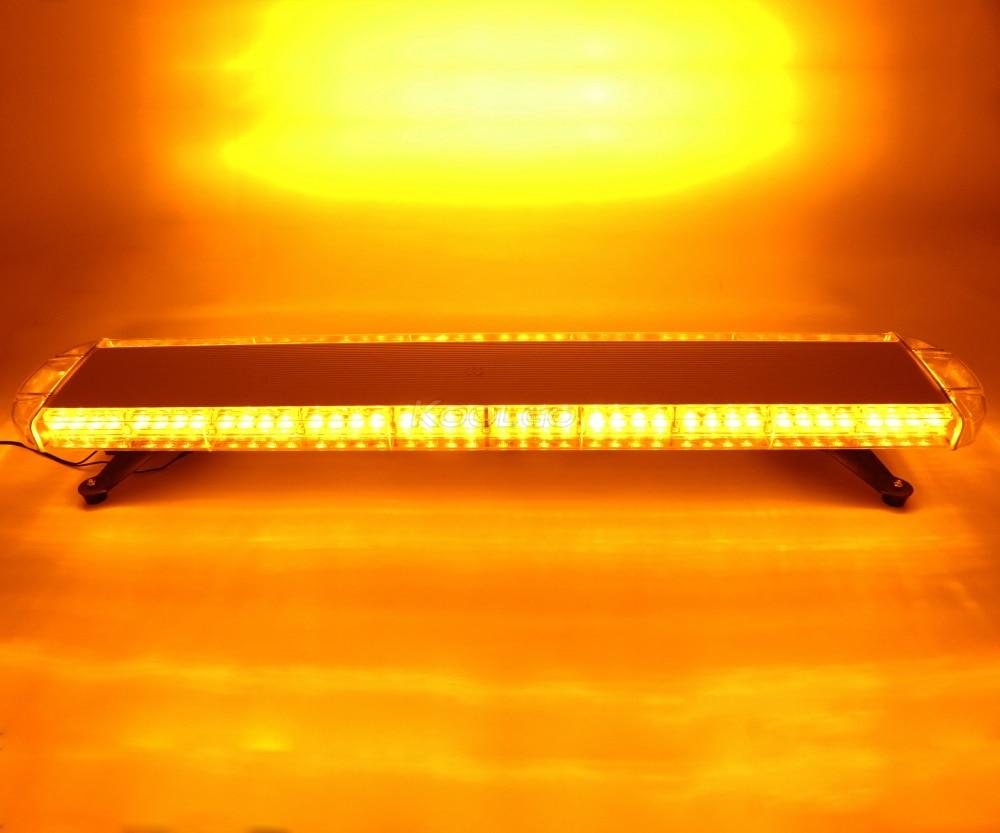 "41/"" LED Strobe Light Bar Amber Emergency Beacon Warning Response Signal Roof Top"