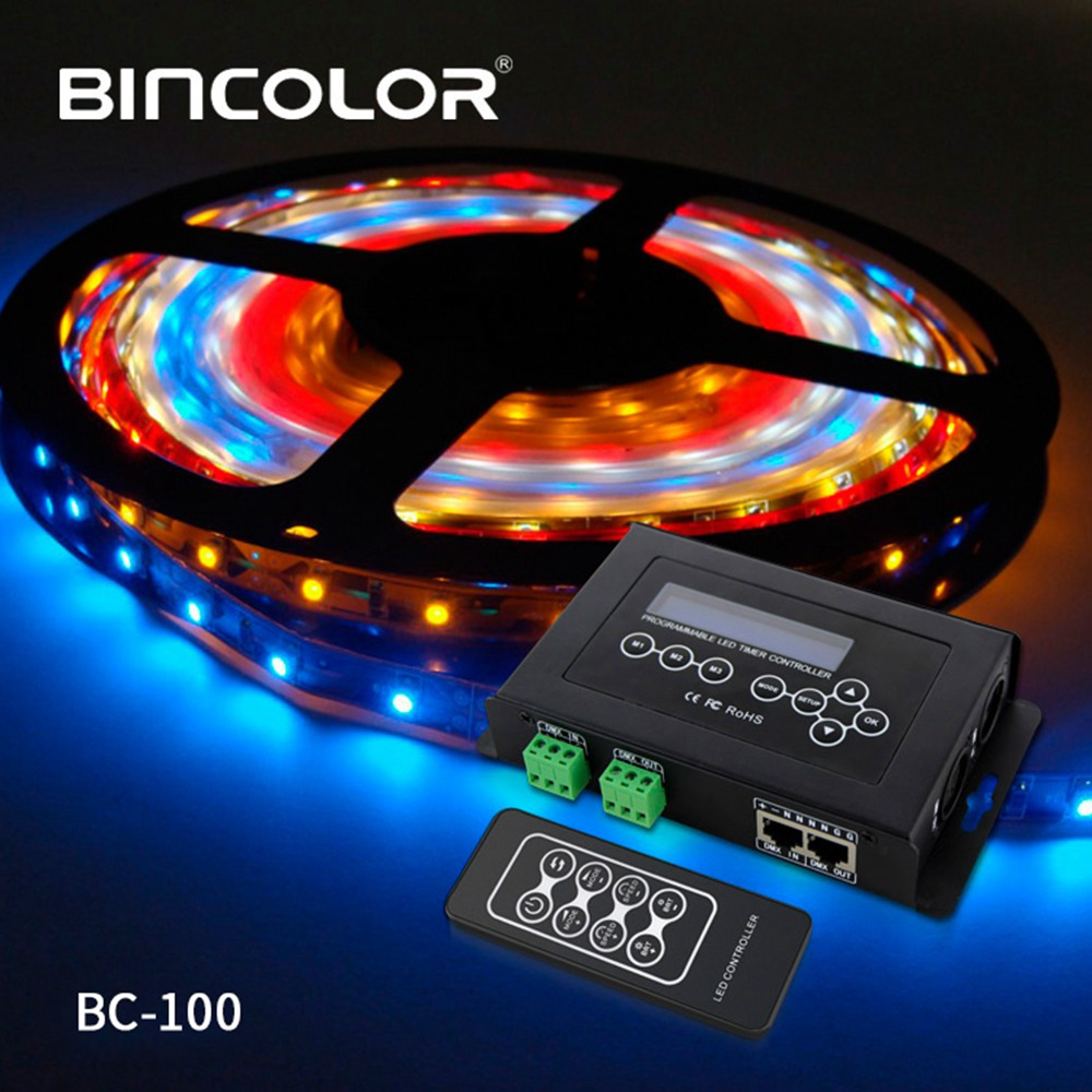 BC 100 DC9V светодиодный RGB контроллер DMX512 сигнал 170 пикселей светодиодный светильник контроллер ЖК дисплей RF беспроводной пульт дистанционного... - 4