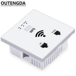 300Mps 802.11N сетевой Wi-Fi маршрутизатор для отеля в стене беспроводная точка доступа Крытый Wi-Fi покрытие проект
