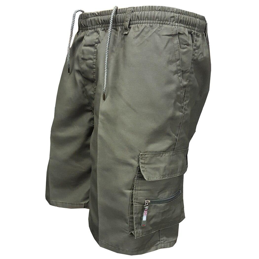 2018 D'été Hommes Multi Poche Militaire Shorts Casual Coton Lâche Genou Longueur Armée Mens Tactique Shorts Homme pantalons de Survêtement