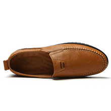 Summer Men Shoes Casual Luxury Brand Genuine Leather Italian Men Loafers Moccasins Slip on Mens Driving Shoes Large Size