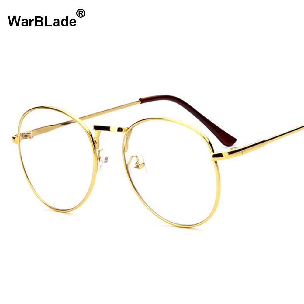 Herren-brillen Brillenrahmen Systematisch Mode Neue Retro Runde Herren Frauen Nerd Brille Klare Linse Brillen Unisex Retro Brillen Brillen Warblade