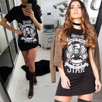 2017 Newest Fashion Sexy Women Summer Clothes Casual Animal Printed Loose Dress Short Sleeve Clothing Ladies