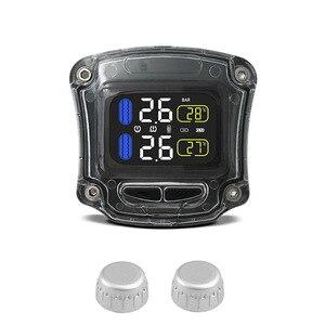 Image 2 - M3 B אלחוטי אופנוע TPMS זמן אמת צמיגי ניטור מערכת אוניברסלי 2 חיצוני פנימי חיישני LCD תצוגה
