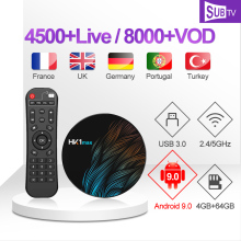 IPTV France Arabic Portugal Canada UK Italy SUBTV HK1 MAX 4G+64G BT Dual-Band WIFI Aracbic