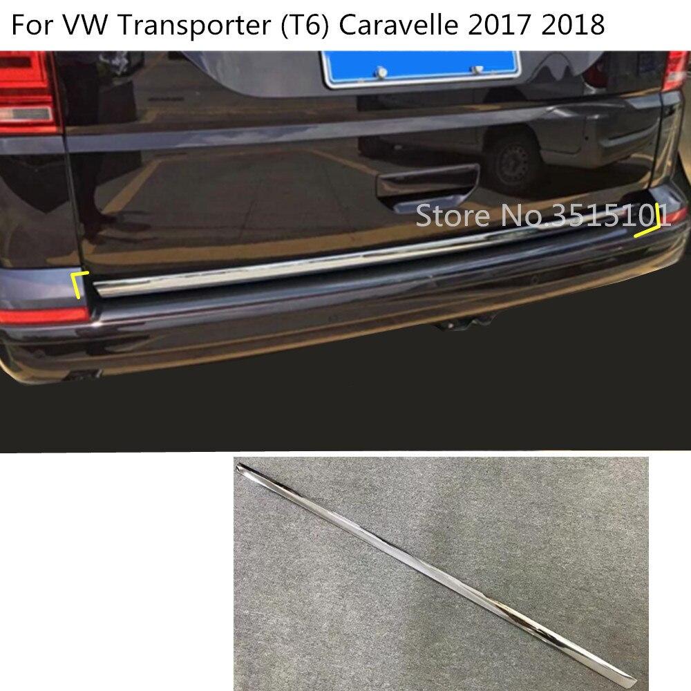 Capot de carrosserie de voiture ABS chrome porte arrière cadre de hayon garniture de plaque de coffre pour VW Transporter (T6) Caravelle 2017 2018