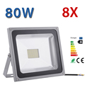 8PCS 80W LED outdoor led SMD flood light floodlight cool white/warm weight garden lamp wall led light AC 85V-265V IP65 6300LM