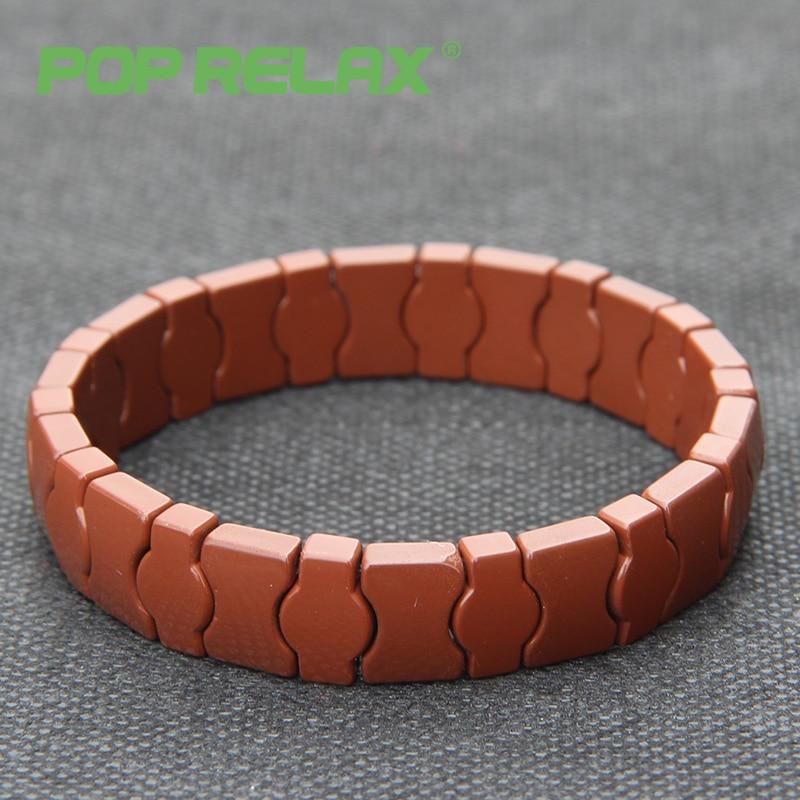 POP RELAX health fashion Korea tourmaline germanium bracelet negative ion energy powerful balls stone bracelet physical therapy pop relax negative ion magnetic therapy tourmaline mat pr c06a 55x120cm ce page 4
