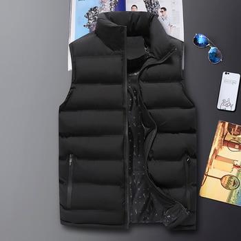 New Brand Vest Men Warm Waistcoat Jacket Vest Cotton Sleeveless Jackets Size 8xl Windproof Blue Plus Size Male Slim Vest Top C91 фото