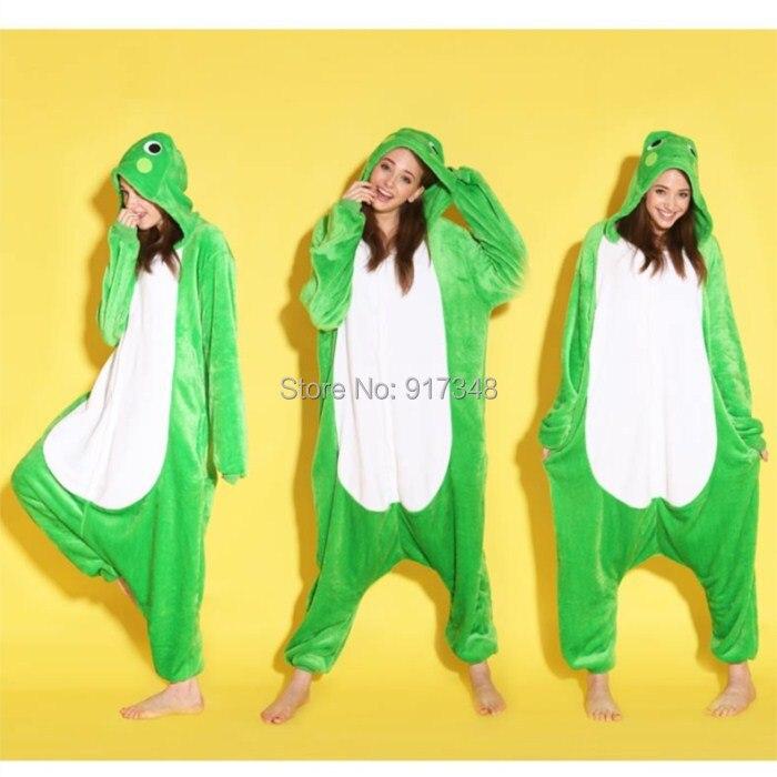 cosplay de la historieta animal rana onesies pijamas sudaderas con capucha del mono adultos cos disfraz