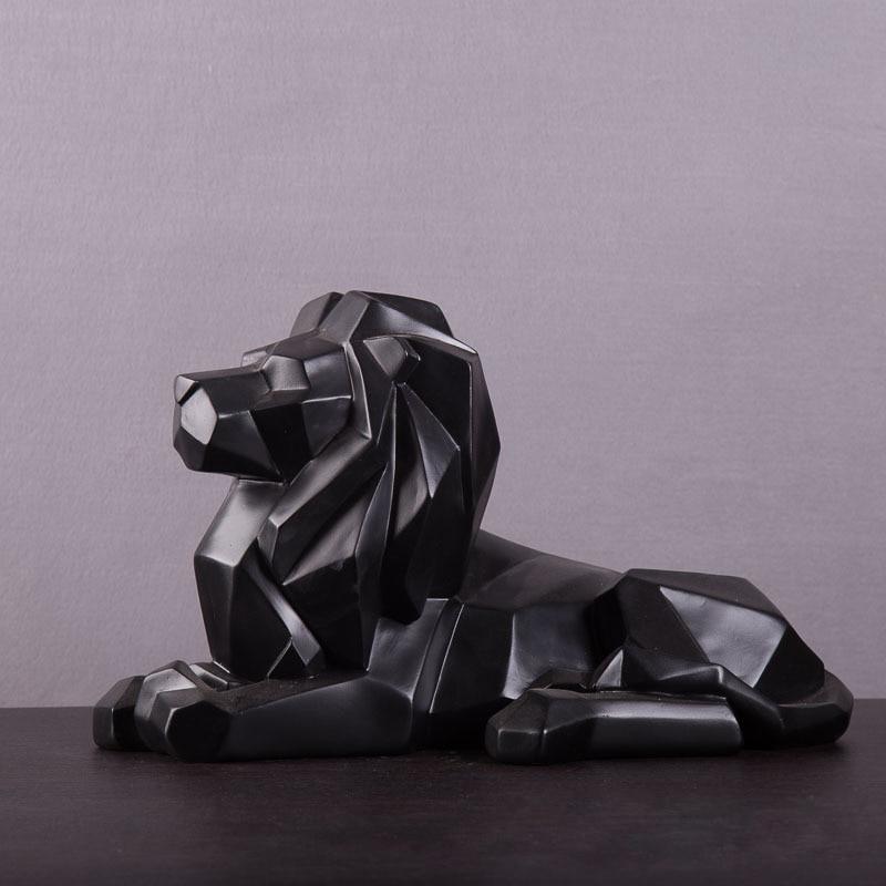 Aspect Lion Statues Geometric Animal Art Sculpture Resin Art&Craft Home Interior Design L3348Aspect Lion Statues Geometric Animal Art Sculpture Resin Art&Craft Home Interior Design L3348