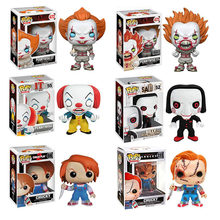 Funko pop POP FILM Pennywise e CHUCKY e BILLY bambole Action Figure Collection Giocattoli di Modello per i bambini(China)