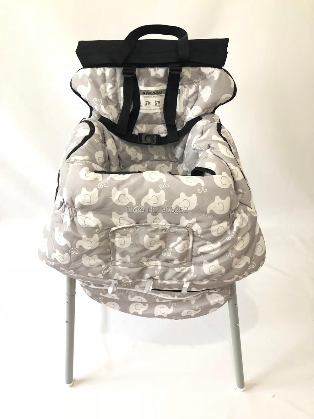 Чехол на колесиках с изображением совы и слона и чехол для стульчика для малышей и младенцев с прозрачным карманом