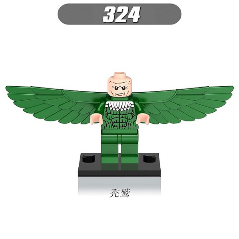 20Pcs Super Heroes Vulture Doctor Octopus Mysterio Bricks Action Collection Learning Building Blocks Children Gift Toys XH 324