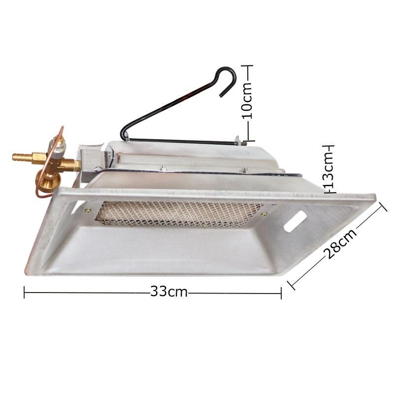 Volaille ferme manuel infrarouge gaz couveuse chauffage céramique chauffage catalytique suspendu au mur pour volaille poulailler canard
