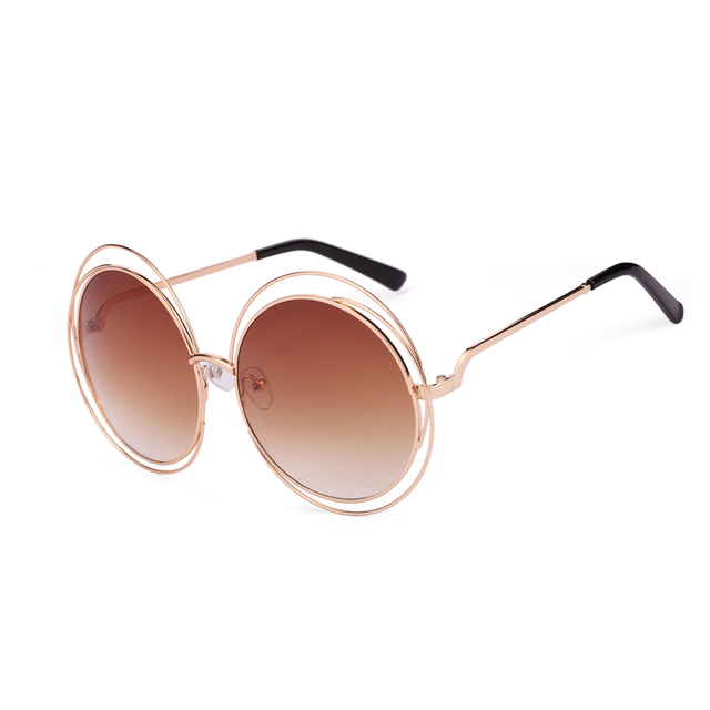 ff5f905c9dd6cc 2017 Vintage Sunglasses Women Round Big Size Oversize lens Mirror Brand  Designer Pink Lady Cool Retro UV400 Sun Glasses Female