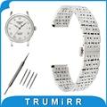 18mm 20mm 22mm Stainless Steel Watch Band for Tissot T035 PRC200 T055 T097 Butterfly Buckle Strap Wrist Belt Bracelet Black Rose