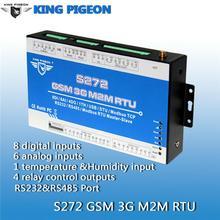 Acceso GSM Control Relay System abridor de puerta de alarma de puerta de monitoreo de temperatura humedad GPRS SMS remoto envío libre BTC llamada RTU S272