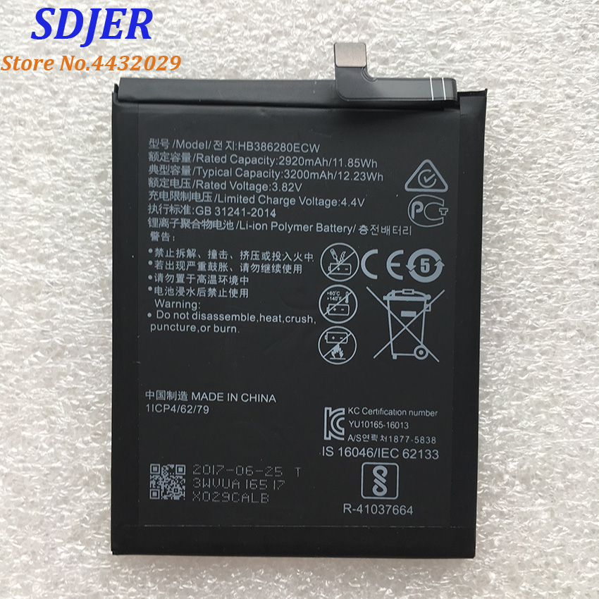 New Original HB386280ECW 3200mAh Rechargeable Li ion Phone battery For Huawei honor 9 P10 Ascend P10 Smart Mobile Phone|Mobile Phone Batteries| |  - title=