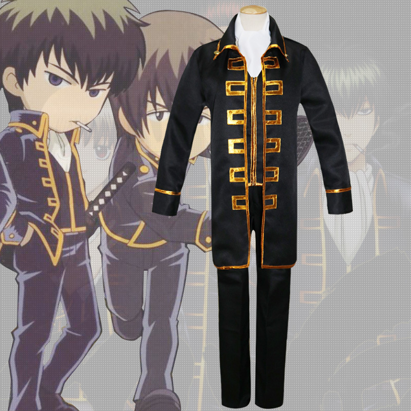 Gintama Shinsengumi Okita Sougo Hijikata Toushirou Uniform Cosplay Costumes