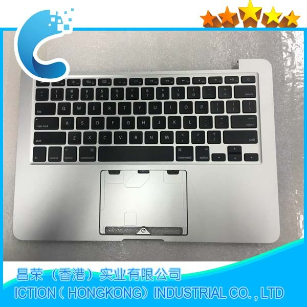 Genuine Top Case Topcase Palm Rest With US Keyboard & Backlight for Macbook Pro Retina 13 A1502 ME864 ME866 2013 2014 original new laptop a1708 palm rest repair for macbook retina pro top housing case cover us layout 13 inch 2016 year replacement