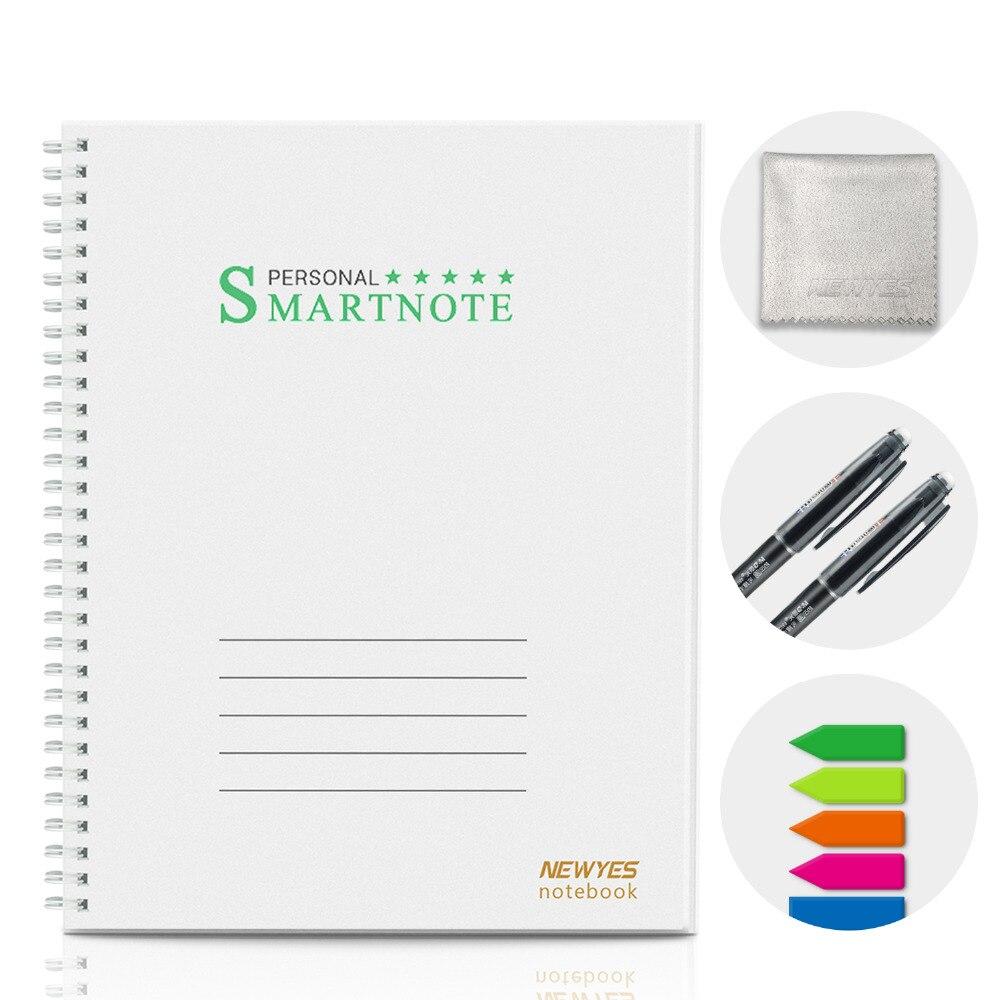 Newyes inteligente reutilizável apagável a4 caderno diário diário diário escritório escola viajantes desenho presente caderno inteligente