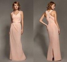 Sexy V-ausschnitt A-linie Lange Chiffon Abendkleid Kleid Mit Schärpe Neue Ankunft 2015 criss-cross Abend Formale Kleid Sleeveless F1716