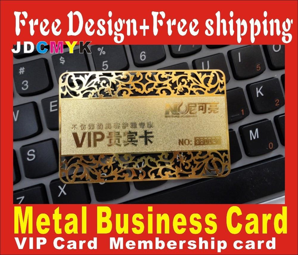 custom cheap metal business cards , 100pcs/ die cut Deluxe Metal ...