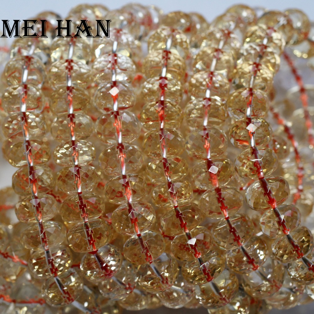 Citrine Rondelle Shape Faceted Beads 6x11.MM Approx 9Inches Natural Top Quality Wholesaler Price.