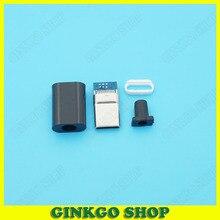 20 наборов 4PIN Глод pated Тип-c 2.0 USB-C штекер Micro USB штекер
