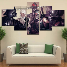 Star Wars Bounty Hunter game Wallpaper 5 panel HD Print modern Modular posters Canvas Art painting For home living room decor