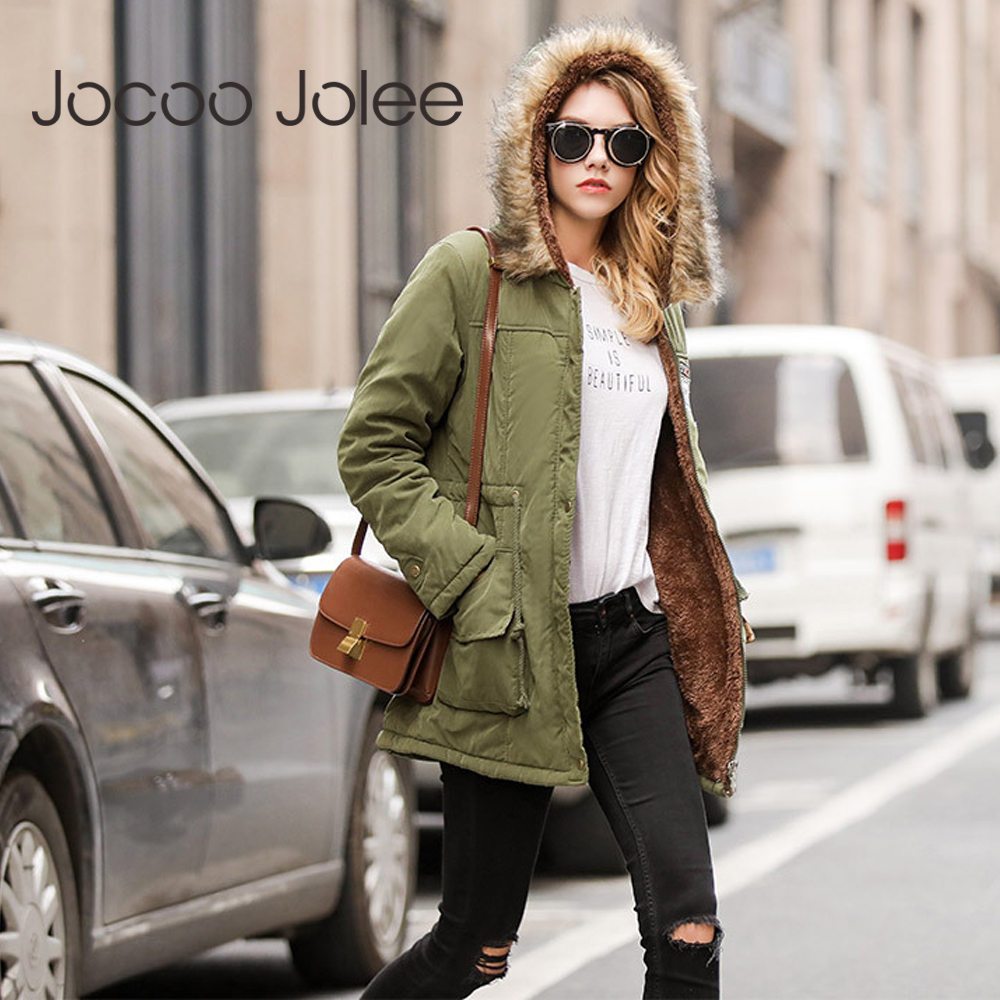 Jocoo Jocoo   Parka   Women Casual Hooded Coat Thick Jacket 2018 Winter Warm Coat Female Oversized Outwear Harajuku Overcoat