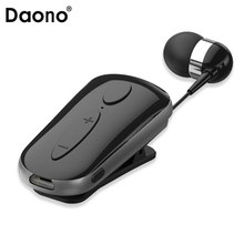 Call Vibration Sport Stereo Mini Clip on Bluetooth Headset Wireless bluetooth handsfree clip Earphone Headphone Clamp Collar(China)