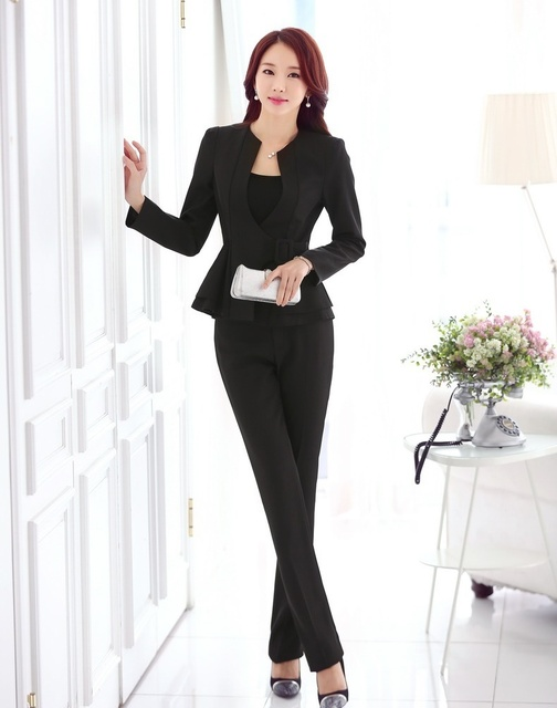 formal ladies pant suits for women work wear suits