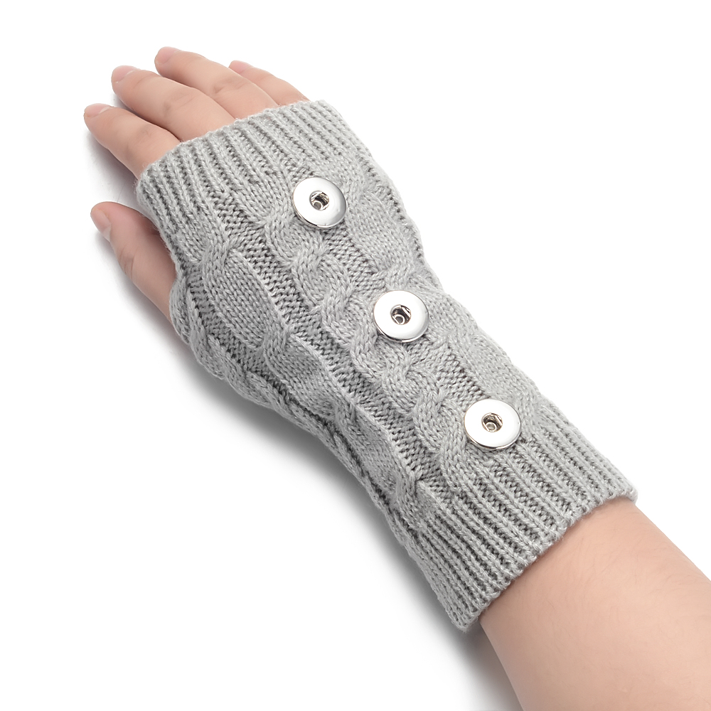11 Colors Winter Snap Glove Arm Warmer Fits 18mm GingerSnaps Jewelry NN-696