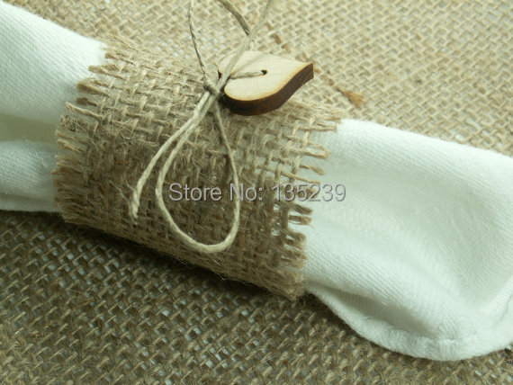 Rustic style rustic 50 burlap napkin rings with wood heart wedding rustic style rustic 50 burlap napkin rings with wood heart wedding decoration rustic wedding junglespirit Image collections