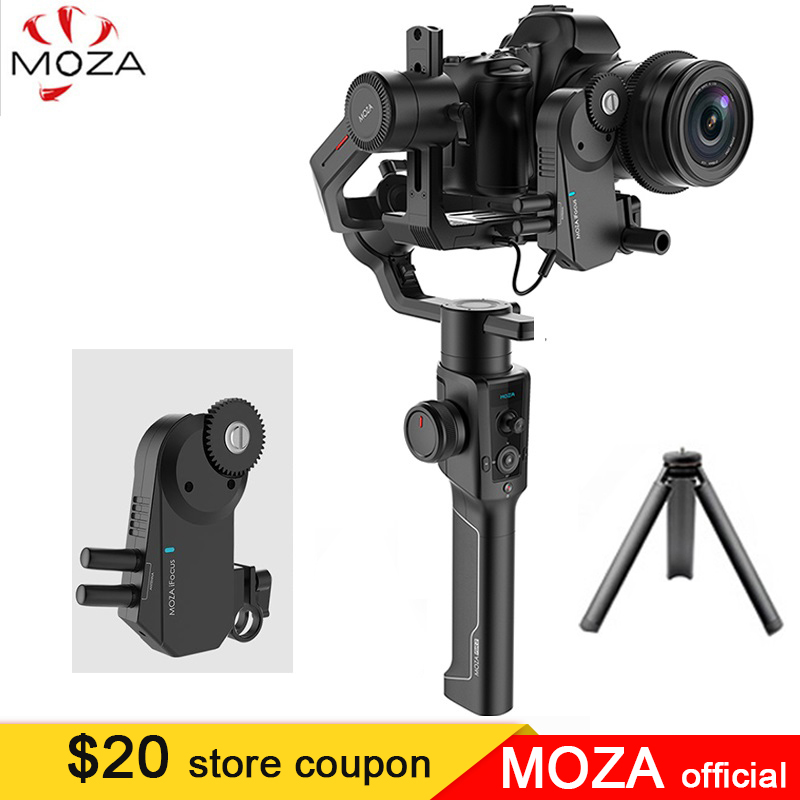In Magazzino Moza Aria 2 3-Assi Handheld Stabilizzatore per Canon Nikon Sony A7S A7R3 Lumix Dmc-GH4 DSLR Mirrorless macchine fotografiche, carico utile di 4.2 kg
