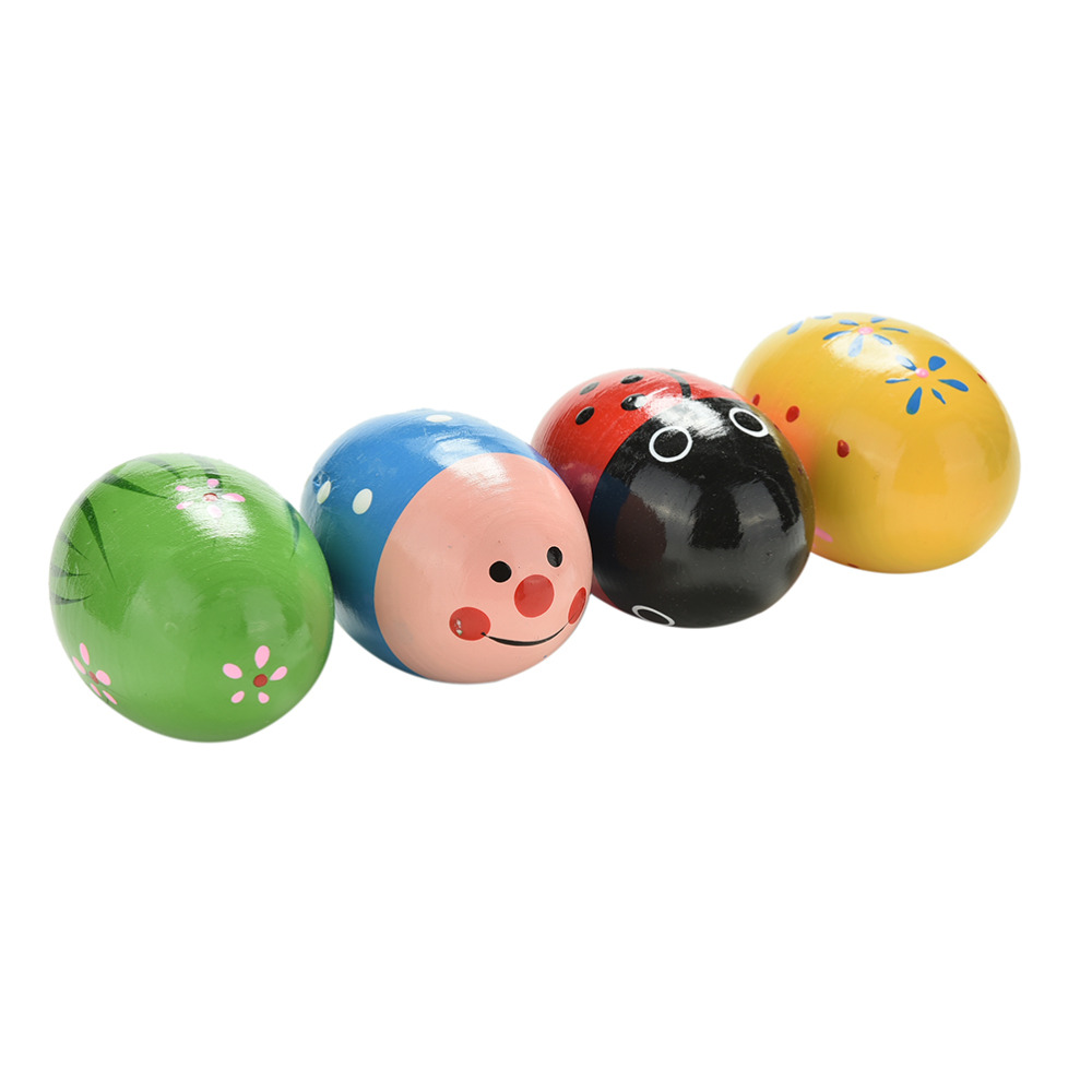 1 Pc Sand Egg Children Toy Wooden Sand Eggs Instruments Percussion Musical Toys Colors Random Elegant And Sturdy Package Toys & Hobbies Learning & Education