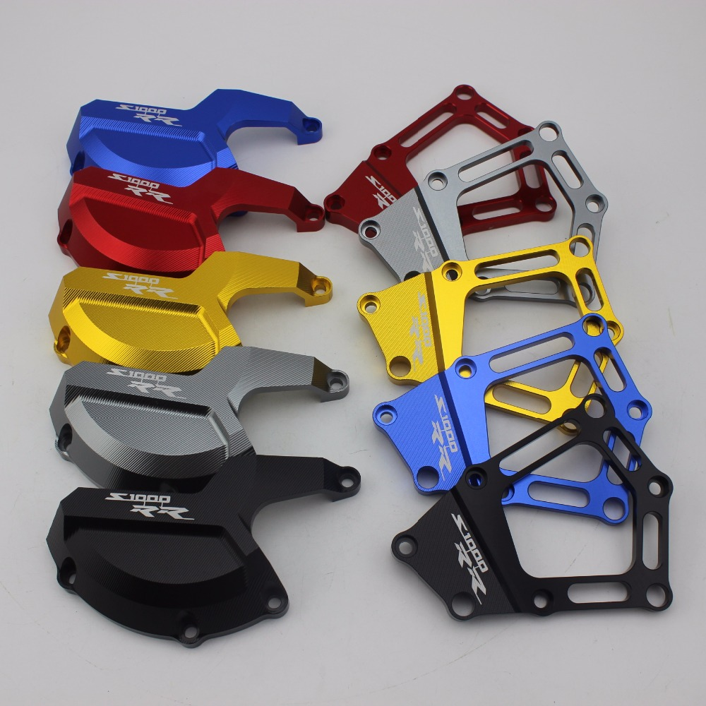 AD Motorcycle CNC Aluminum Engine Stator Cover Case Slider Protector For BMW S1000RR S1000R HP4 K42 K46 2009 - 2017 #