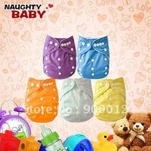 Тканевый подгузник-Naughtybaby, дизайн, красивый цветной подгузник, двухрядный подгузник с защелками, набор из 55 комплектов(1+ 1