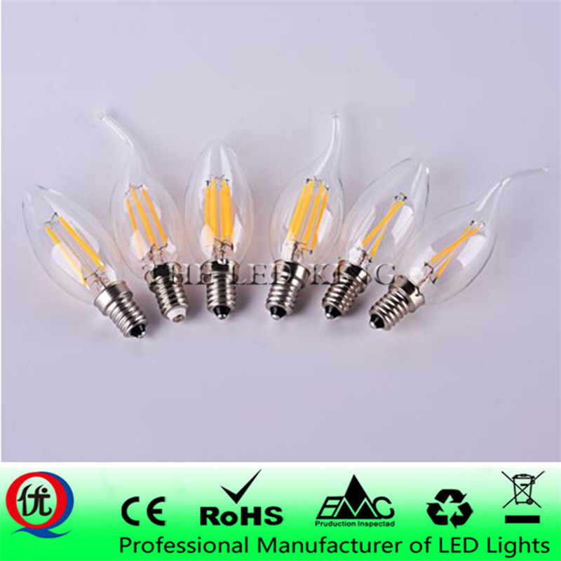 220V E14 LED Candle Bulb E14 C35 Filament Light E27 LED Lamp 230V 240V A60 C35 G45 220V COB LED Filament light Decoration lamp
