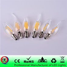 E14 LED Bougie Ampoule E14 C35 Filament Lumière E27 lampe à LED Remplacer 30 w 40 w 60 w À Incandescence LED Ampoule E27 220 V A60 bombilla(China)