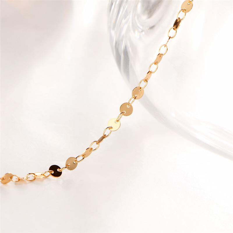 MISANANRYNE Simple Women/Men Bangle Gold Color personality retro alloy round Flat sequins Link Chain Bracelet Pulseira 9