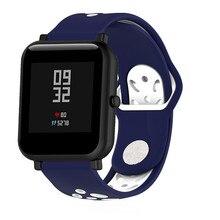 20 MM bırakır Silikon Bileklik kemer Huami Için Amazfit Bip Watchband Bilek Kayışı Bilezik huawei saat Için 2/Samsung Dişli spor