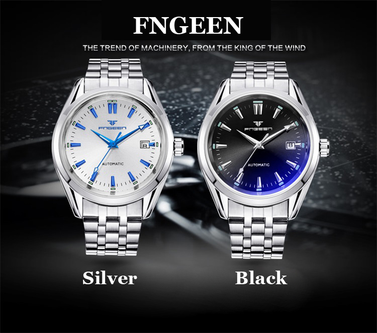 HTB1OIGtX2WG3KVjSZPcq6zkbXXaB 2019 Mens Wrist Watch Top Brand Luxury Watches Male Luminous Calendar Waterproof Stainless Steel Automatic Mechanical Wristwatch