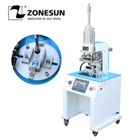 ZONESUN ZY HTP C 70*70mm Automatic Stamping Machine leather LOGO Creasing machine stamper Initial Heat Transfer Emboss machine
