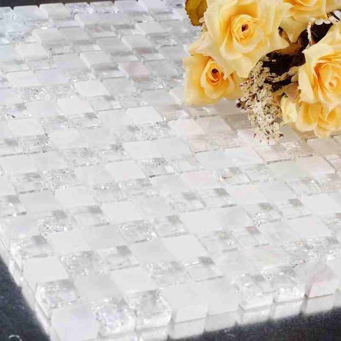 Aliexpresscom Buy white stone mixed ice crackle clear glass
