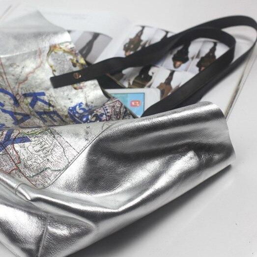 bolsa grande feminino casual couro Material Principal : Couro Genuíno