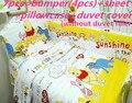 Promoción! 6 / 7 unids espesar cuna juego de cama cuna para el niño cama kit parachoques almohada, 120 * 60 / 120 * 70 cm